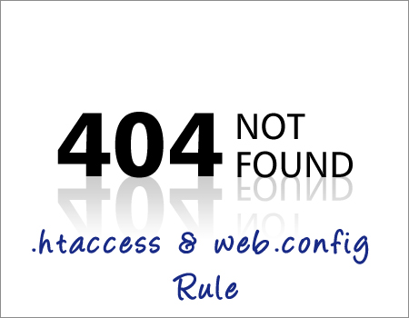 web.config rule for 404 not found