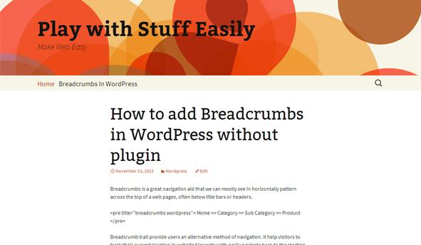 Breadcrumbs in WordPress